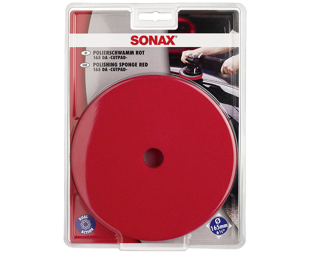 اسفنج پولیش قرمز-Polishing Sponge Red 165 Dual Action Cut Pad کد-493441